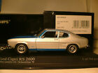 RARE MINICHAMPS 1/43 1972 FORD CAPRI RS 2600 ONLY 744 PCS WORLDWIDE STUNNING NLA