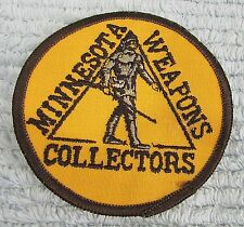 """Minnesota Military Weapons Collectors Old 1970s 3-1/2"""" dia Jacket Patch FREE S/H"""