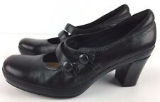 Clarks Artisan Shoes Women's Mary Jane Active Air Heels Black Leather 7.5 M