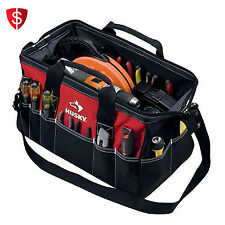 Large 18 Inch Tool Bag Heavy Duty Water Resistant Storage Tools Organizer Husky