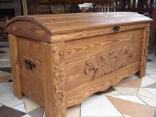Massive handgemachte Holzkiste Truhe Box Holz Aufbewahrung Antik Dekoration MON2