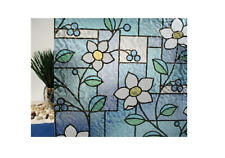 """Stained Glass Flowers Static Cling Window Film, 36"""" Wide x 6.5 ft"""