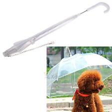 XD#3 Portable Transparent Pet Dog Cat Umbrella with Built-in Leash Puppy Dry in