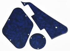 Blue Pearl LP Pickguard & Back Plate Switch Cavity Covers for Epiphone Les Paul