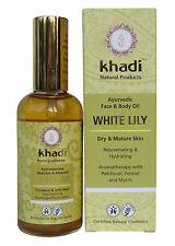 KHADI PURE AYURVEDIC WHITE LILY FACE & BODY OIL - VEGAN & NATURAL PRODUCT