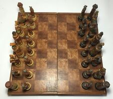 """Beautiful Chinese Asian Hand Made Chess Set 21"""" X 21"""" Board WOODEN PIECES"""
