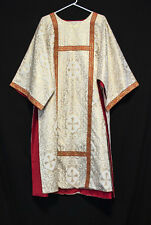 GOLD & WHITE DALMATIC Festive Deacon's Vestments Church Clergy Apparel Christmas