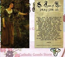 St Joan of Arc with Prayer to St Joan of Arc - Paperstock Holy Card