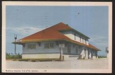Postcard VAL d'OR Quebec/CANADA  Railroad Station/Depot view 1930's