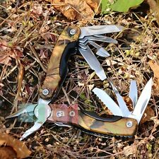 Outdoor Stainless Steel Multi Tool Plier Folding Pocket Knife Saw Screwdriver