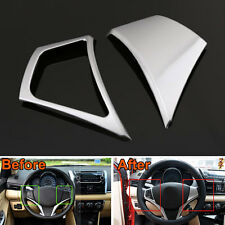 2Pcs ABS Car Interior Steering Wheel Cover Trim Decoration For Yaris L 2014