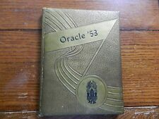 THE ORACLE HIGH SCHOOL YEAR BOOK OF 1953 DELPHI,INDIANA