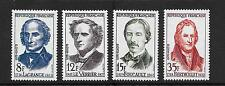 France 1958 Famous French Scientists vf mint never hinged SG 1371 - 1374