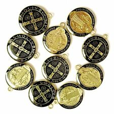 10 PCS  Pendant Catholic St. Benedict Shield Medal Patron Exorcism Protection