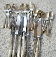VINTAGE 37 PC STERLING SILVER FLATWARE SILVERWARE UTENSILS PLACE SETTING DINNE