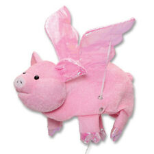 Flying Pig Hat Wings Pink Farm Animal Dress Up Halloween Adult Costume Accessory