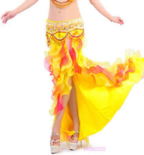 New Professional Belly Dance Costume Waves Skirt Dress 6 colors