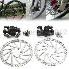 Mountain Bicycle Bike Mechanical Disc Brake Front or Rear Caliper 160mm + Rotor