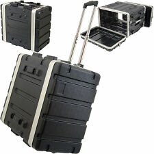 "19"" 6U ABS Equipment Flight Case Trolley - Mixer/Patch Panel Rack Storage Handle"
