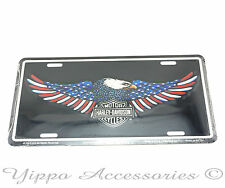 Harley Davidson Motorcycles Patriotic Aluminum Metal License Plate Sign Tag