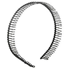 Practical Black Metal Teeth Comb Hairband Hair Hoop Headband For Woman M1