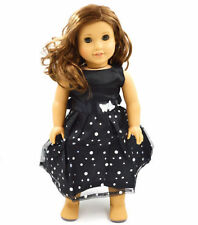 GOOD! black fashion cute clothes dress for 18inch American girl doll party x14