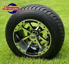 "GOLF CART 10"" STORM TROOPER WHEELS and 205/50-10 DOT LOW PROFILE TIRES (4)"
