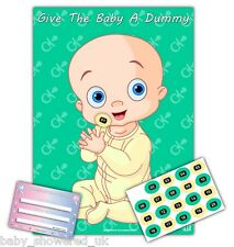 Baby Shower Party Games ~ GIVE THE BABY A DUMMY ~ UNISEX ~ 20 players ~ A2 size
