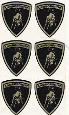 SET OF - 6  VINYL - LAMBORGHINI DECALS