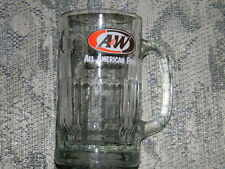 A&W Vtg. root beer mug- heavy glass -Large size EUC-ALL AMERICAN FOOD logo on it