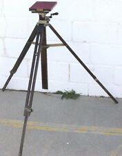 Antique Agfa Ansco Wood & Metal Large Format Field Camera Tripod For Restoration