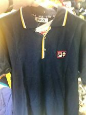 FILA  POLO  BJ HEAVYWEIGHT  VINTAGE  38/4 INCH navy/red AT £14
