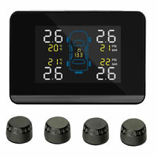 NEW CAREUD Auto Car TPMS Tyre Pressure Monitoring System + 4 External Sensor