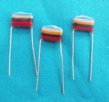 3 x 0.068uf Mullard C280 Metallised Polyester ( Tropical Fish) Capacitors