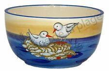 Bol à céréales couple de mouettes en céramique petit déjeuner, bord de mer neuf