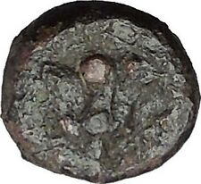 RHODES Island Off CARIA 394BC Nymph Rhodos ROSE Ancient Greek Coin i49769