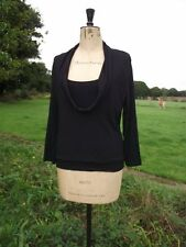 Fab ARTIGIANO Made in Italy Faux Two Piece Black Top Size 14 BNWT RRP £49.99