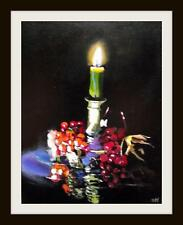 Advent Candle & Fruit  : Original Oil Painting by Susan Ballantyne - Mortimer