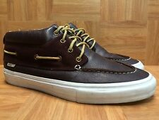RARE�� VANS Proper LBC Long Beach Brown Leather Laced Mid Chukka Boat Boot Sz 13