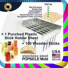 Residential, Commercial or Industrial Stainless Steel Ice 24 Pops Mold/Popsicle