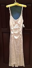 NWT Claire Pettibone Crushed Velvet Bridal Lingerie Ivory Long Gown Size XL $245