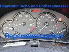 Reparatur Tacho und Drehzahlmesser Peugeot 206 (KI mit 2 Steckern); Leihtacho