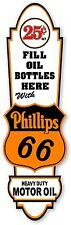 """(PHIL-LUB-2) 24""""X10"""" 25cent PHILLIPS 66 OIL LUBSTER FRONT DECAL CAN GAS GASOLINE"""