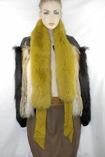 $1,150 GUCCI Yellow Fox Fur Evening Scarf Women Lady Holiday Sexy Gift NWT ITALY