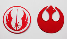 "STAR WARS ""JEDI ORDER"" & ""REBEL ALLIANCE"" Embroidered Iron-On Patch Set #S44 NEW"