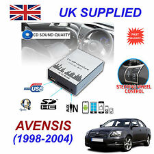 AVENSIS 1998-02 MP3 SD USB CD AUX Input Audio Adapter Digital CD Changer Module