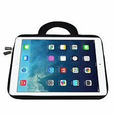 Apple iPad Pro 9.7 Water Proof Case Neoprene Bag Pocket Sleeve Handle Black New