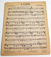 Partition vintage sheet music CHARLES DUMONT : A Capri * 60's Promo