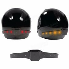 Wireless Moto Smart Helmet LED Light Safety Running Brake Turn Signal casco Luz