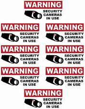 8   CCTV VIDEO SURVEILLANCE Security Burglar Alarm Decal  Warning Sticker Signs